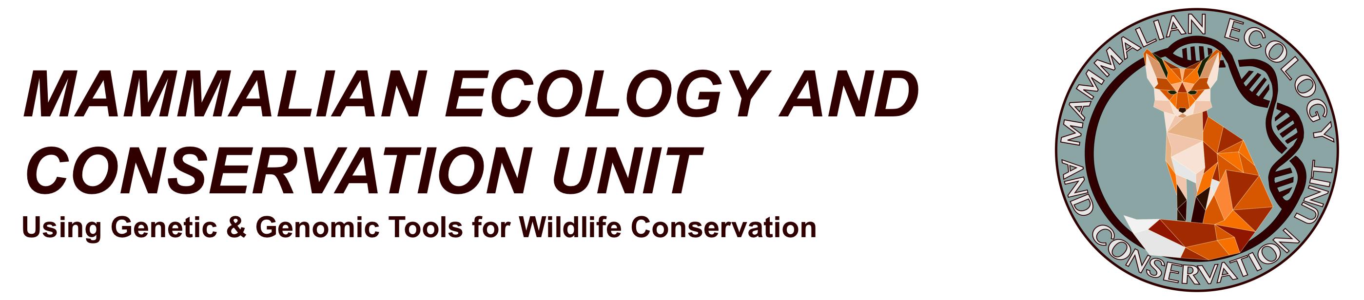 Mammalian Ecology and Conservation Unit